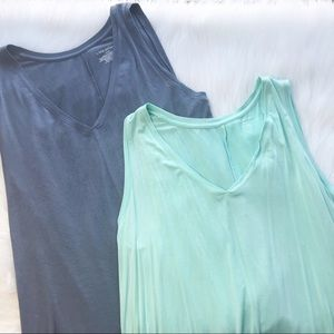 Bundle of lane Bryant v neck swing tanks 14/16